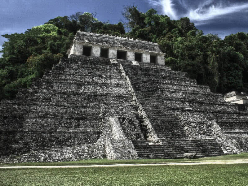 It Represent Gracefulness Of Architecture And Creativity Mayan Civilization The Temples At Palenque
